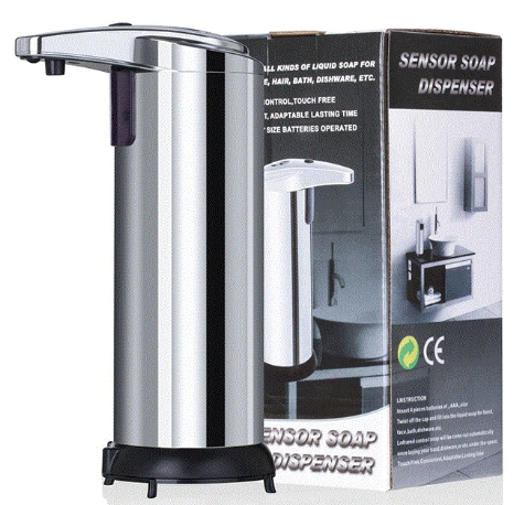 Automatic Table Top, Desktop Touchless Hand Sanitizer Dispenser, Liquid Dispenser, Soap Dispenser with Infrared Sensor, Office/Home/Hotel/Toilet 250ml Fy-0013